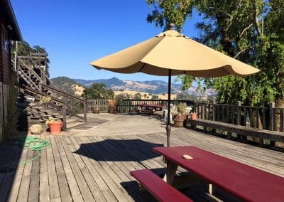 Main Lodge Patio (currently being remodeled!)