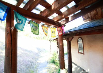 Meditation Temple Prayer Flags