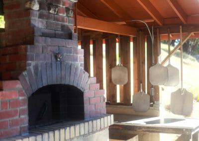 Wood fired Pizza Oven near Main Lodge