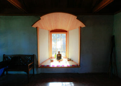 Meditation Temple Entryway Window