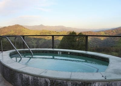 Jacuzzi Hot Tub with mountain views